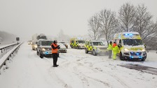 Snow and ice causing gridlock in the Thames Valley