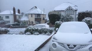 Deepest snow recorded in Sennybridge