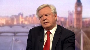 David Davis said the divorce payment was dependent on a trade deal.