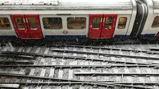 Tube services have been disrupted by the snow.
