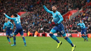Olivier Giroud climbs off the bench to rescue a late point for Arsenal