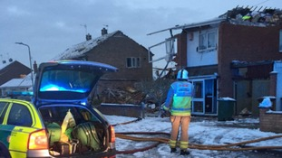 One house has collapsed