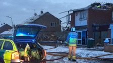 House destroyed in Leicestershire explosion