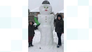 A supersize snowman in Great Barr
