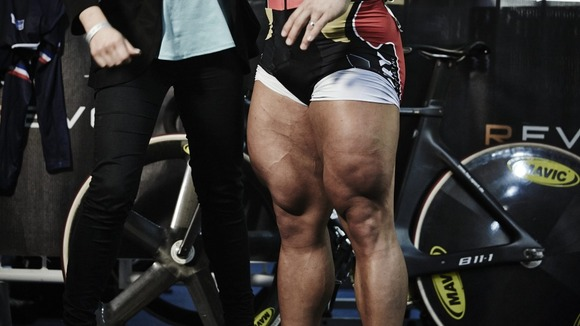 The German's 'Olympic-sized' thighs.