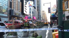 Emergency services near Times Square.