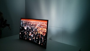 Samsung unveiled its intelligent TV at the Consumer Electronics Show in Las Vegas.
