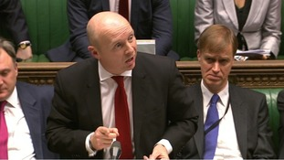 Shadow Work and Pensions Secretary Liam Byrne speaking against the benefits cap during the Commons debate