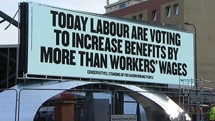 A Conservative party billboard advertisement