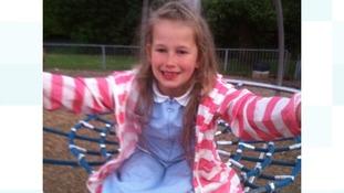 Rhianna in a playground.