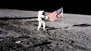 The 1969 Apollo 12 lunar landing mission.