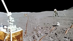 The second Apollo 15 moonwalk in 1971.