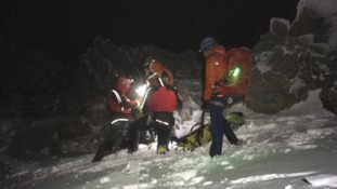 Walker airlifted to safety after 80ft Snowdon fall
