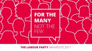The Labour party's 2017 election manifesto cover.