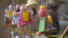 Knitted angels descend on St Peter Port