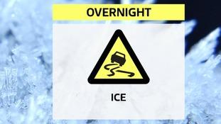 Widespread ice risk overnight