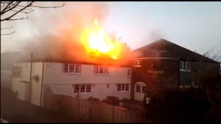 Historic village pub devastated by roof fire