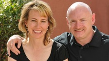 Former congresswoman Gabrielle Giffords with husband Mark Kelly