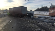 Lorry driver recovers after M5 crash