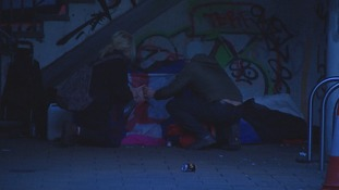 Rough sleepers in the region