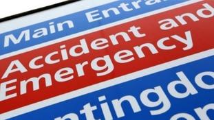 NHS sign.