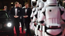 Princes William and Harry attend The Last Jedi premiere