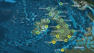 Weather: icy patches turning windy with frequent showers