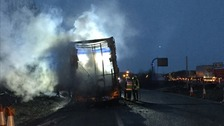 Clean-up after lorry causes travel chaos
