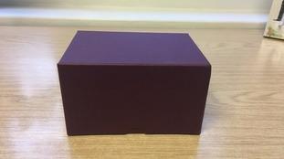 Stolen box containing ashes