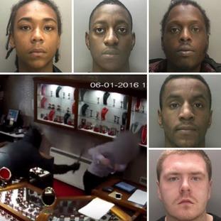 From top left: Daijon Johnson, Jamul-Pinnock-Parkes, Jermaine Davis, Owen Richardson and Bradley Devine