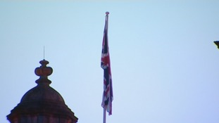 The Union flag is flying in Belfast today in honour of the Duchess of Cambridge's 31st birthday