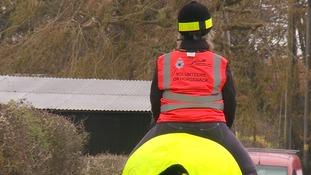 Sarah Hills regularly patrols roads and bridleways