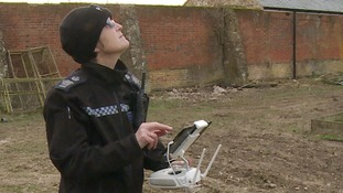 Helen Maxwell paid for her own training to operate police drones