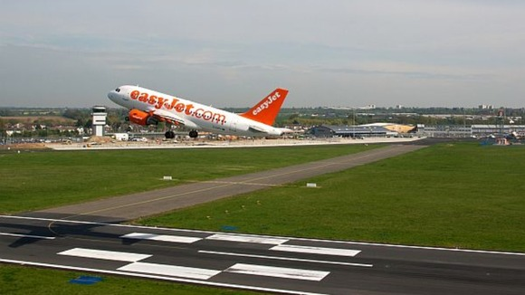An easyJet aircraft takes off from London Southend