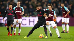 Arsenal lose ground in the race for the top four as they draw with West Ham