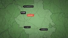 The crash happened in Ramsey on Wednesday night.