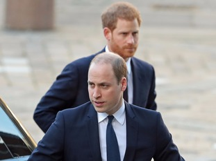 The Duke of Cambridge and Prince Harry arriving for the Grenfell Tower National Memorial Service