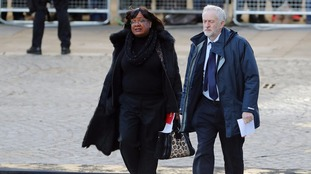 Labour Party leader Jeremy Corbyn and shadow home secretary Diane Abbott