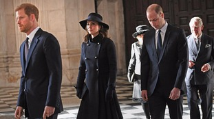 Members of the royal family attended the service.