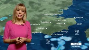 Thursday's morning forecast for the east of the region