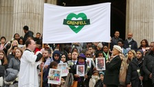 Grenfell Tower fire memorial service held to honour victims