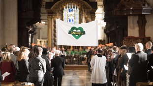 The Grenfell Tower National Memorial Service took place at St Paul's Cathedral