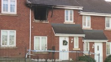 The house in Sunderland after the fire.