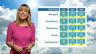 Thursday's afternoon forecast for the East of the region