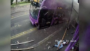 Bus driver who hit man with bus pleads guilty to dangerous driving