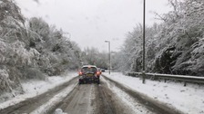 Much of Hertfordshire was covered in snow on Sunday.