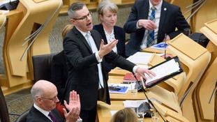 Finance Secretary Derek Mackay announces his draft Budget in Scotland's Parliament.