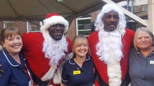 Idris Elba and Stormzy pay surprise visit to children's hospital wards