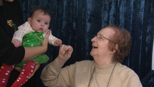 The babies are transforming the physical and mental wellbeing of the pensioners they visit.