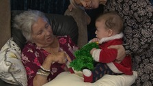 The babies have been visiting care homes across Norfolk.